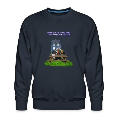 TIME AND SPACE AND TEA - Men's Premium Sweatshirt
