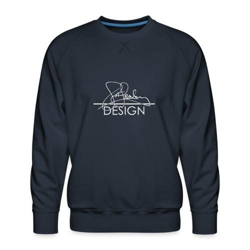 sasealey design logo wht png - Men's Premium Sweatshirt