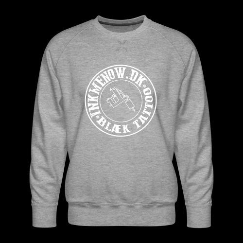 logo hvid png - Herre premium sweatshirt