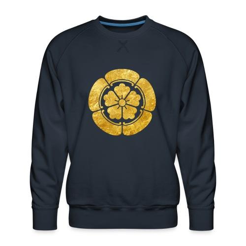 Oda Mon Japanese samurai clan faux gold on black - Men's Premium Sweatshirt