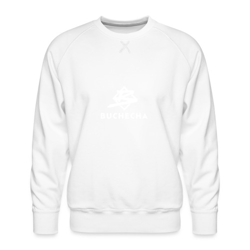 Logo White Basic - Sudadera premium para hombre