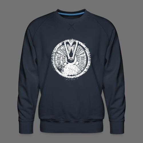 Maschinentelegraph (hvid oldstyle) - Herre premium sweatshirt