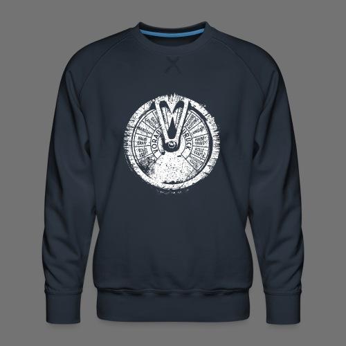 Maschinentelegraph (biały oldstyle) - Bluza męska Premium