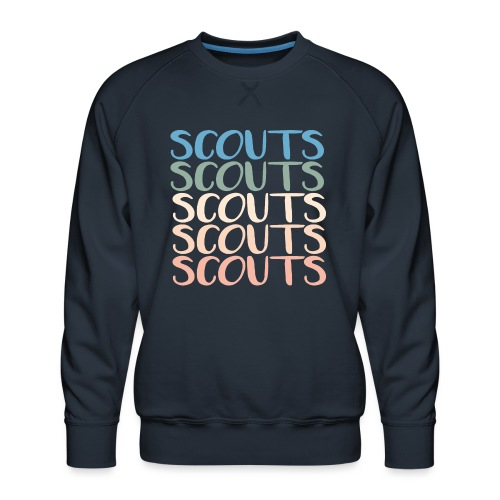SCOUTS Typo Pastell Farbmix - Männer Premium Pullover