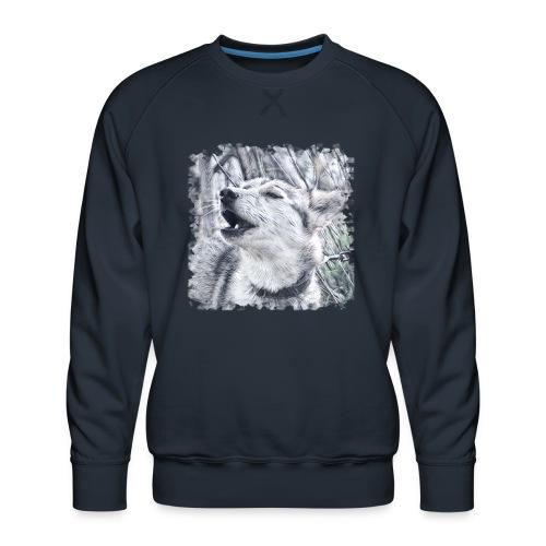 Jaulender Husky - Männer Premium Pullover