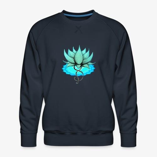 Lotus bleu chakra - Sweat ras-du-cou Premium Homme