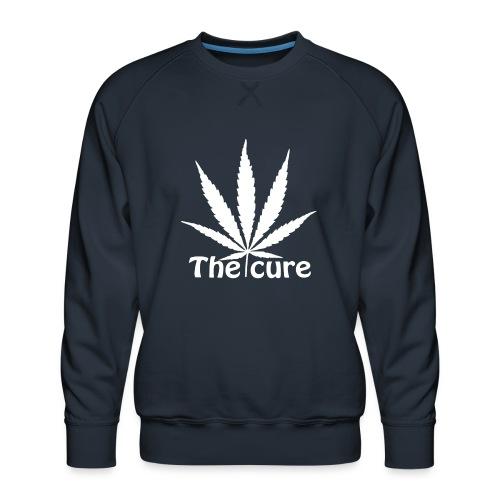 The cure of cannabis leaf. - Men's Premium Sweatshirt