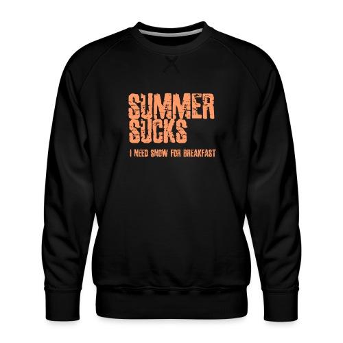 SUMMER SUCKS - Mannen premium sweater