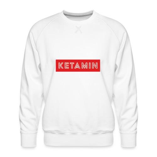KETAMIN Rock Star - White/Red - Modern - Men's Premium Sweatshirt