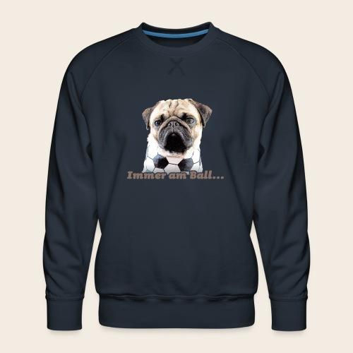 Mops am Ball 2 - Männer Premium Pullover