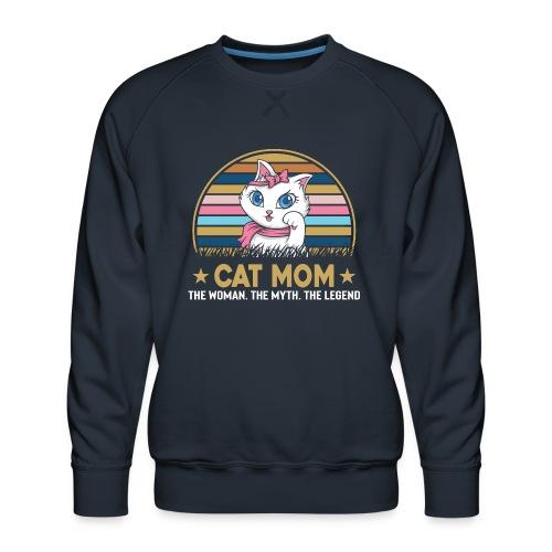 CAT MOM - Sweat ras-du-cou Premium Homme