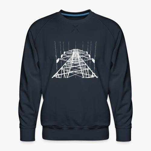 Strommast weiß - Männer Premium Pullover