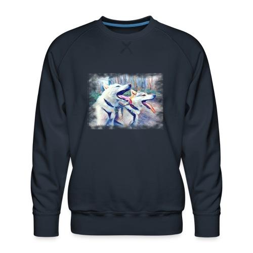 Glückliche Leithunde - Männer Premium Pullover