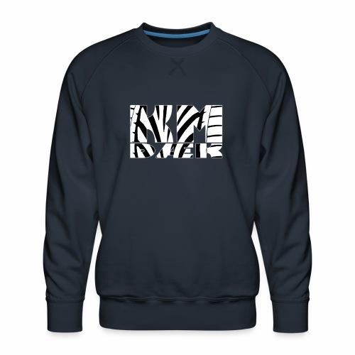KM_white - Herre premium sweatshirt