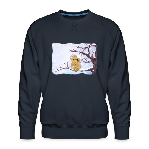 Kauz im Schnee - Männer Premium Pullover