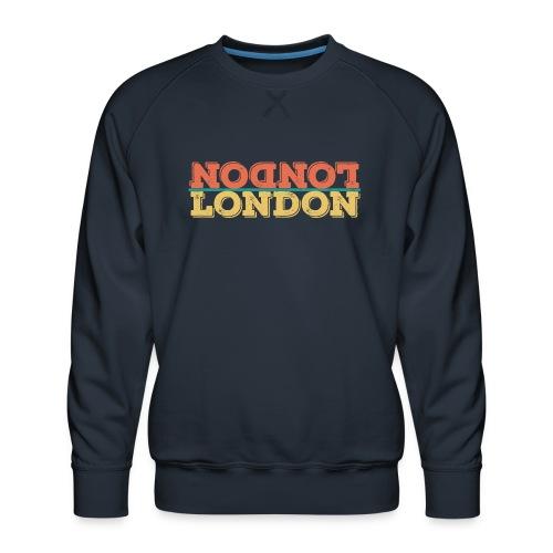 Vintage London Souvenir - Retro Upside Down London - Männer Premium Pullover