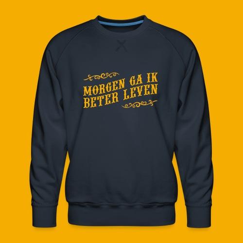 tshirt yllw 01 - Mannen premium sweater