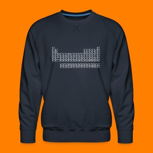 periodic white - Men's Premium Sweatshirt