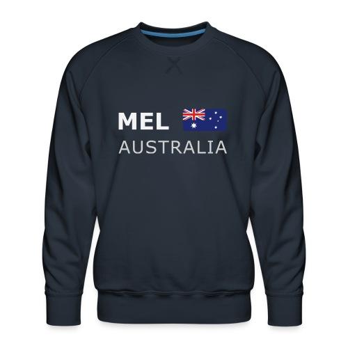 MEL AUSTRALIA white-lettered 400 dpi - Men's Premium Sweatshirt