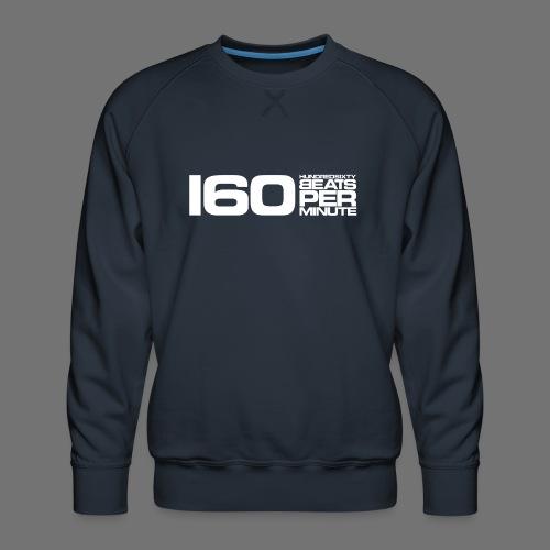 160 BPM (hvid lang) - Herre premium sweatshirt