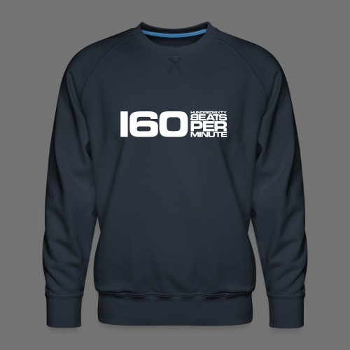 160 BPM (white long) - Men's Premium Sweatshirt