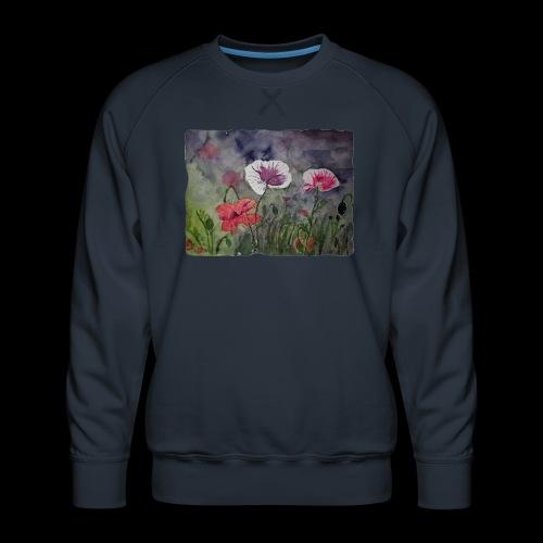 Mohnblume - Männer Premium Pullover