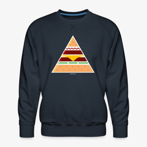 Triangle Burger - Felpa premium da uomo