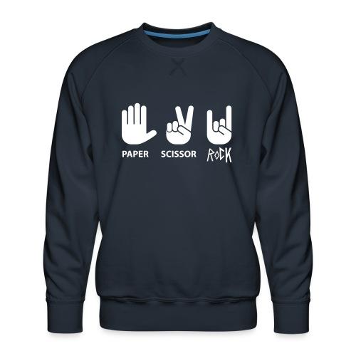 paper scissor rock - Mannen premium sweater