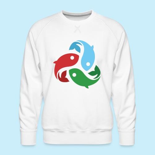 De fiskede fisk - Herre premium sweatshirt