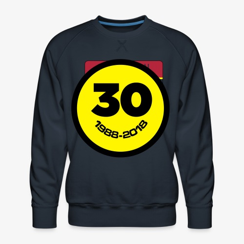 30 Jaar Belgian New Beat Smiley - Mannen premium sweater