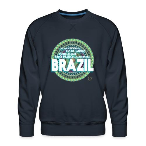 Lemon Brazil Mandala - Sweat ras-du-cou Premium Homme