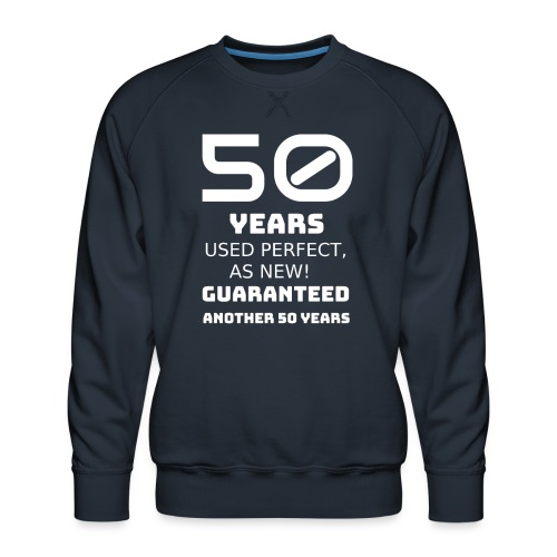 50th years birthday - Felpa premium da uomo