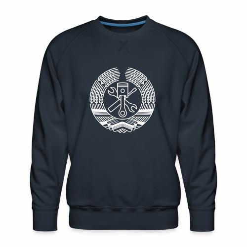 DDR Tuning Coat of Arms 1c (+ Your Text) - Men's Premium Sweatshirt