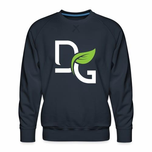 DrGreen Logo Symbol weiss grün - Männer Premium Pullover