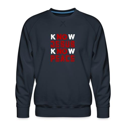 Know Jesus Know Peace (Flower Design) - Männer Premium Pullover