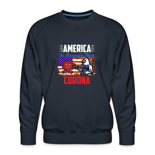 America against Corona - Männer Premium Pullover
