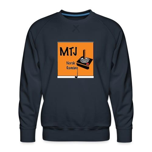 Mtj Logo - Premium-genser for menn