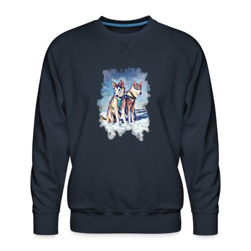 Huskies im Schnee - Männer Premium Pullover