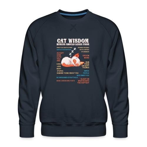 CAT WISDOM - Sweat ras-du-cou Premium Homme