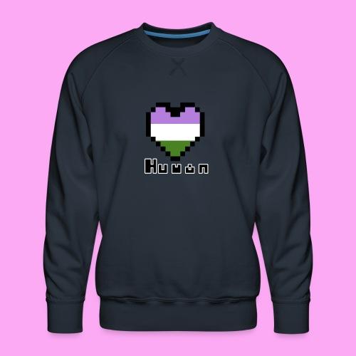 Pride heart genderqueer - Miesten premium-collegepaita