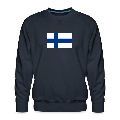 800pxflag of finlandsvg - Miesten premium-collegepaita