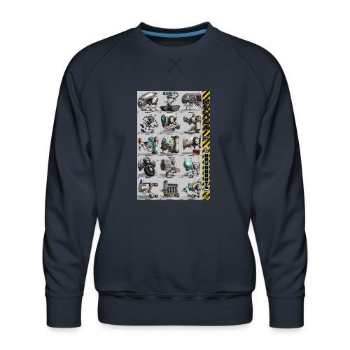March of Rawrobots 01-15 - Herre premium sweatshirt