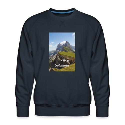 Naturpark Puez Geisler - Männer Premium Pullover