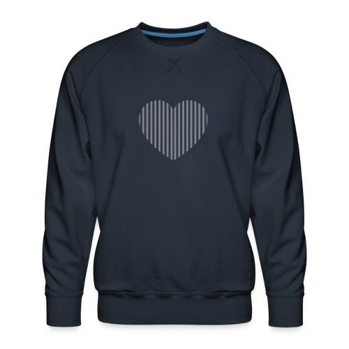 heart_striped.png - Men's Premium Sweatshirt