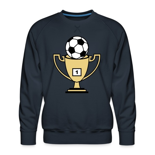 Pokal mit Fussball - Männer Premium Pullover