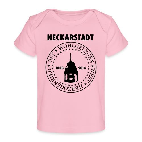 Neckarstadt Blog seit 2014 (Logo dunkel) - Baby Bio-T-Shirt