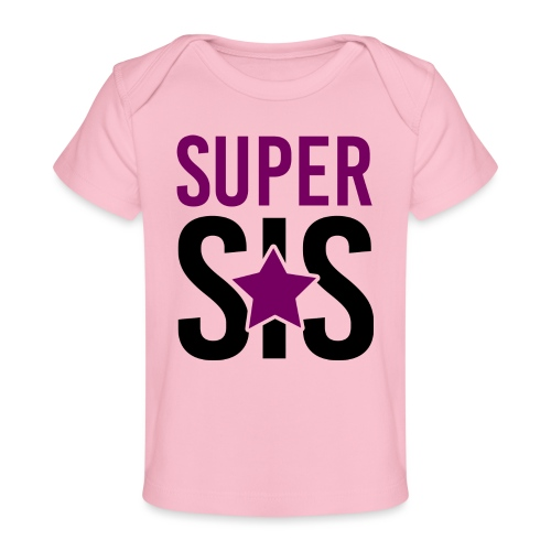 Super SIS Schwester schwanger Geschenk Babybody - Baby Bio-T-Shirt