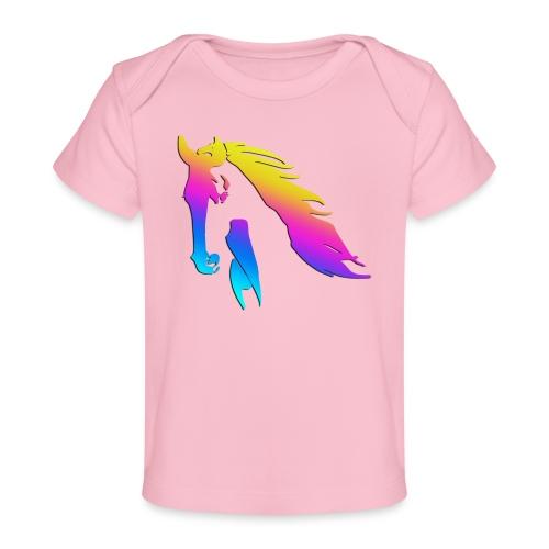 Cheval arc en ciel - T-shirt bio Bébé