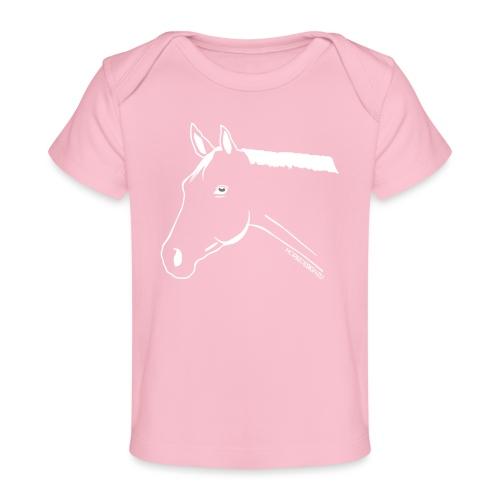 Pony Pferdekopf Reitbekleidung - Baby Bio-T-Shirt