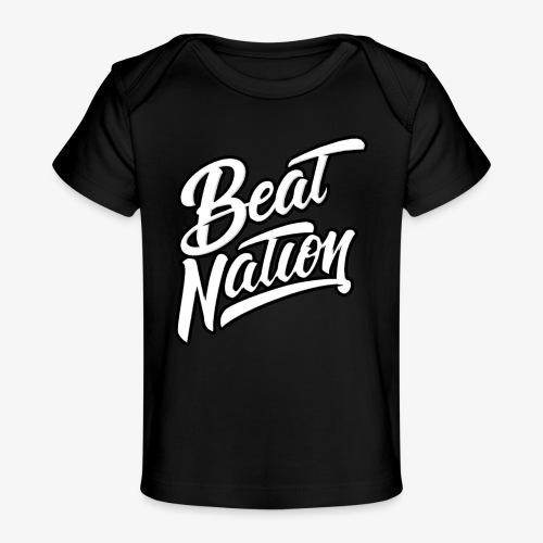 Logo Officiel Beat Nation Blanc - Baby Bio-T-Shirt